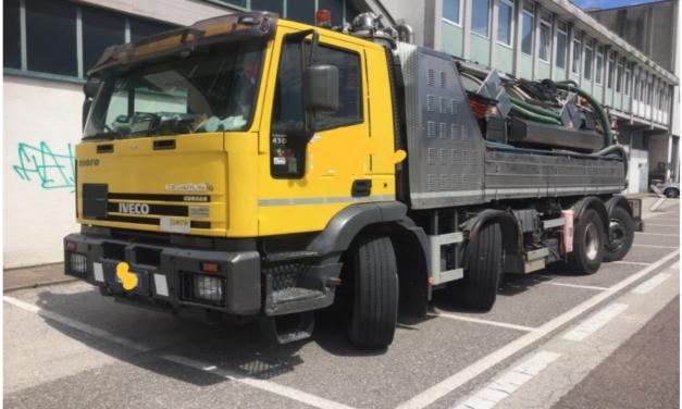 Spurgo Combinata Moro ADR su Iveco Magirus Euro 3